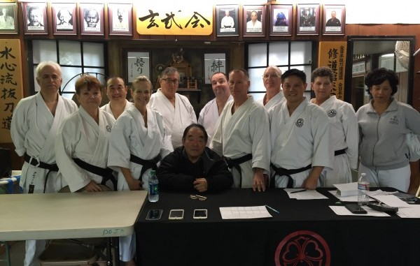 Group photos of students tested for their Dan ranks