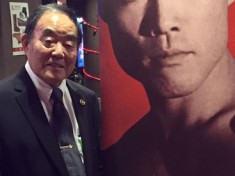 Shihan Demura at Laguna Beach Cinema for The Real Miyagi screening