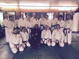 Demura Sensei with Genbu-Kai Poland students with Santa Ana students