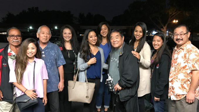 Sensei Demura with Nisei Queen pageants and students.