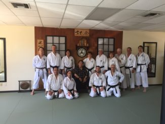 First workout class at the new Genbu-Kai Hombu home